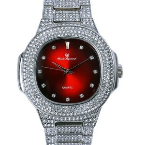 Other - Full iced out red face luxury stylish watch